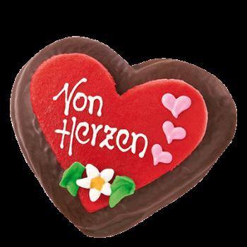 """Schoko-Lebkuchenherz """"Von Herzen"""""""