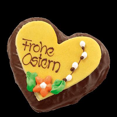 Chocolate Easter Lebkuchen Heart Yellow