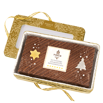 Personalised Christmas Tin with company logo