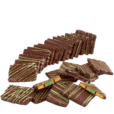 Lebkuchen and Peppermint Squares