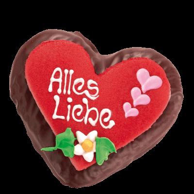 "Chocolate-Lebkuchenheart ""Alles Liebe"""